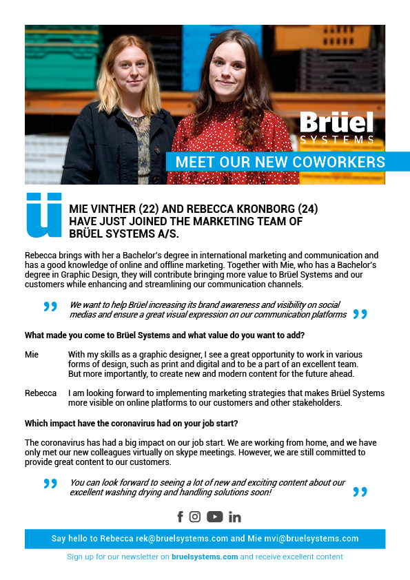 New Marketing Coordinators at Brüel Systems A/S